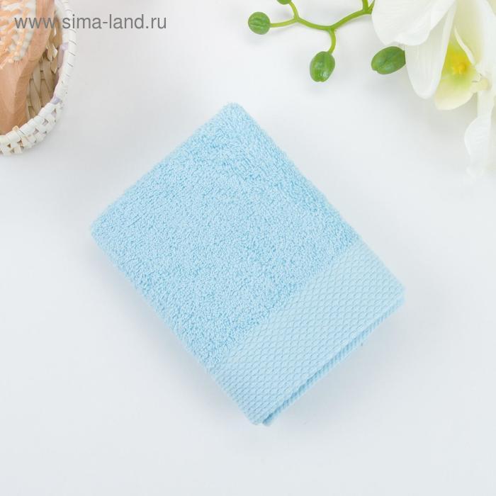 Полотенце махровое гладкокрашеное 70х140 см, голубой, хлопок 100%, 480г/м2 - фото 2
