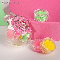 Набор мелких блёсток для декора ногтей Beauty winter, 3 цвета