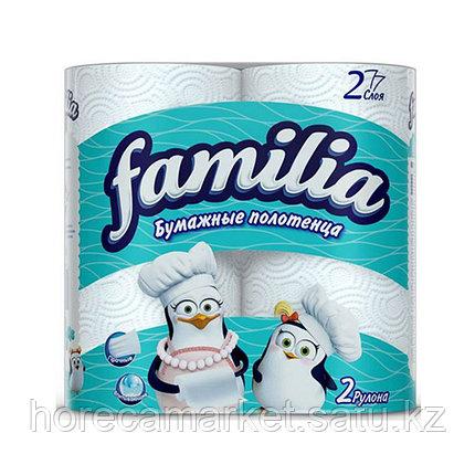 Полотенца бумажные Familia 2сл. 2рул., фото 2