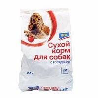 Сух корм Aro для собак говядина 400г