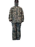 Костюм зимний полевой :куртка с капиюшоном и брюки, камуфлированного цвета