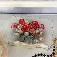 Шкатулка фигурная «Букет роз»