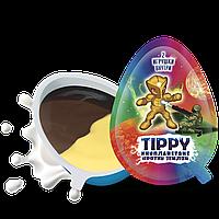 Шоколадное яйцо «TIPPY» с бананово-молочной шоколадной пастой и 2 игрушки внутри