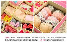 Органайзер для белья из 10 ячеек 2в1 (розовый), фото 3