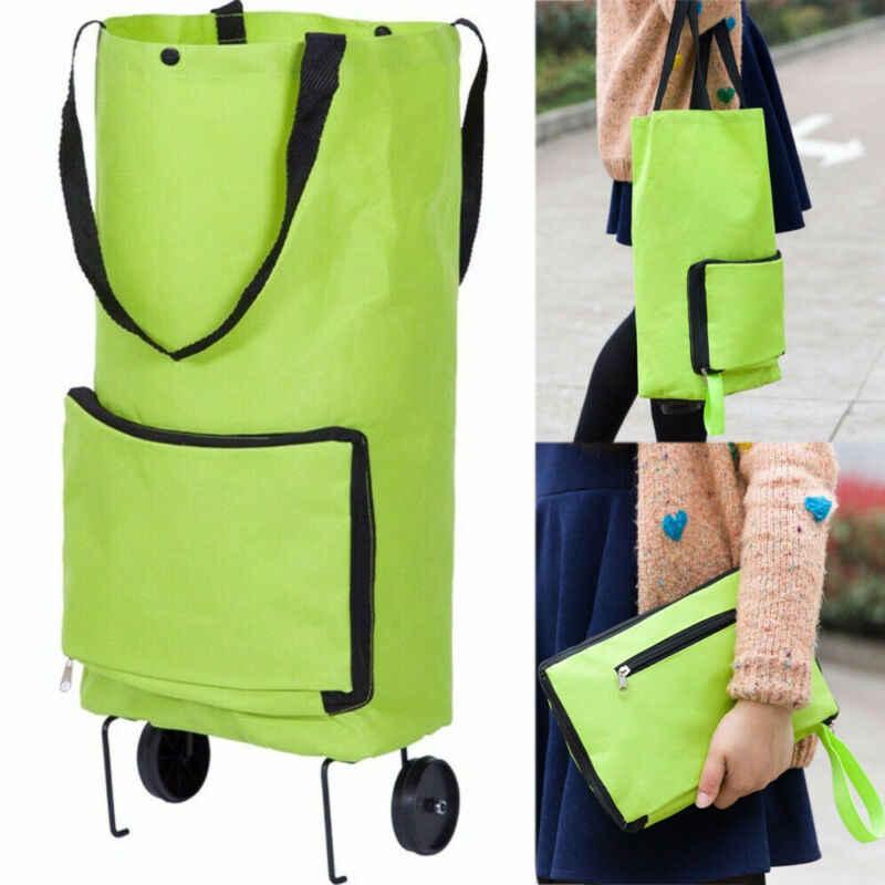 Складная сумка для покупок на колесиках