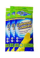 Перчатки Freshouse Premium Latex, жёлтые, (S, M, L).