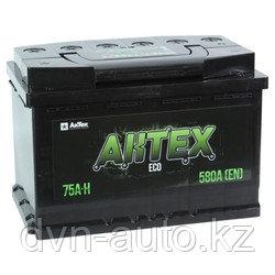 Аккумулятор AKTEX 75Ah евро -+