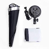 Софтбокс комплекта 50×70 на 4 лампы на стойках + 4 ламп по 30 Ватт для постоянный света, фото 2