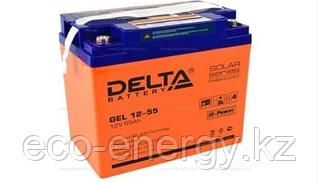 Аккумуляторная батарея Delta GEL 12-55 (12V / 55Ah)