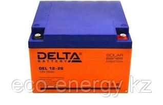 Аккумуляторная батарея Delta GEL 12-26 (12V / 26Ah)