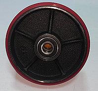 Колесо рулевое для гидравлической тележки полиуретан/сталь с подшипником (180*50*50)