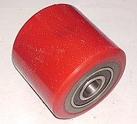 Колесо ролик для гидравлической тележки полиуретан/сталь с подшипником (80*70)