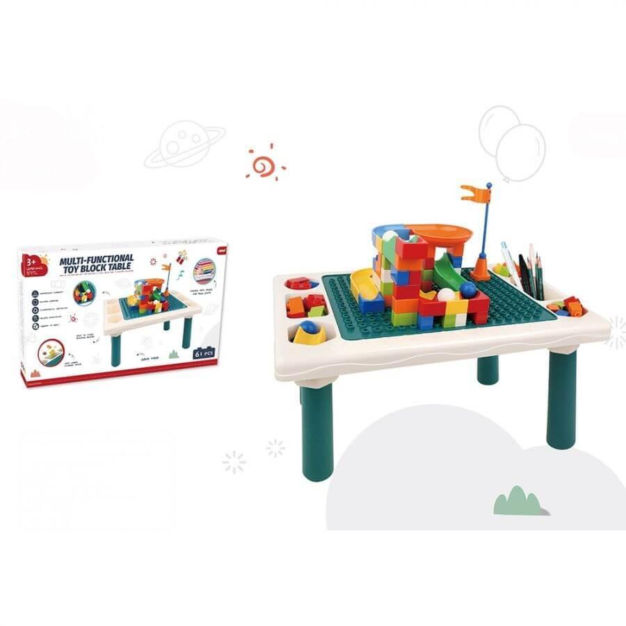 Pituso Стол для игры с конструктором в комплекте с конструктором 61эл