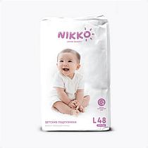 Подгузники Nikko размер L (9-14кг) 48 штук
