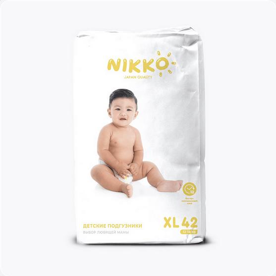 Подгузники Nikko размер XL (12-18кг) 42 штуки