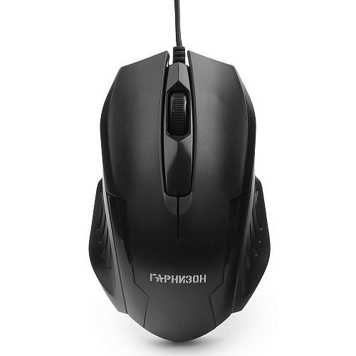 Мышь Гарнизон GM-110, USB, чип- Х, черный, 800 DPI, 2кн.+колесо-кнопка, кабель 1,5м