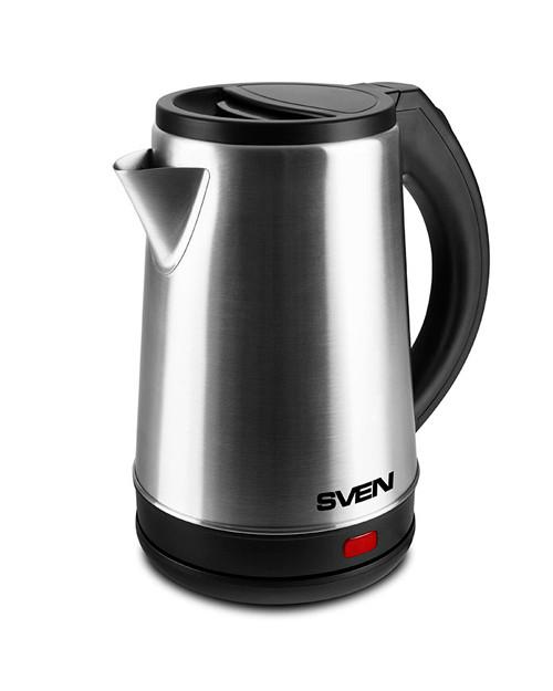 Чайник электрический SVEN KT-S2002 / 2 л / нержавеющая сталь-чёрный