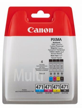 Картридж Canon CLI-471 BK/C/M/Y (0401C004)