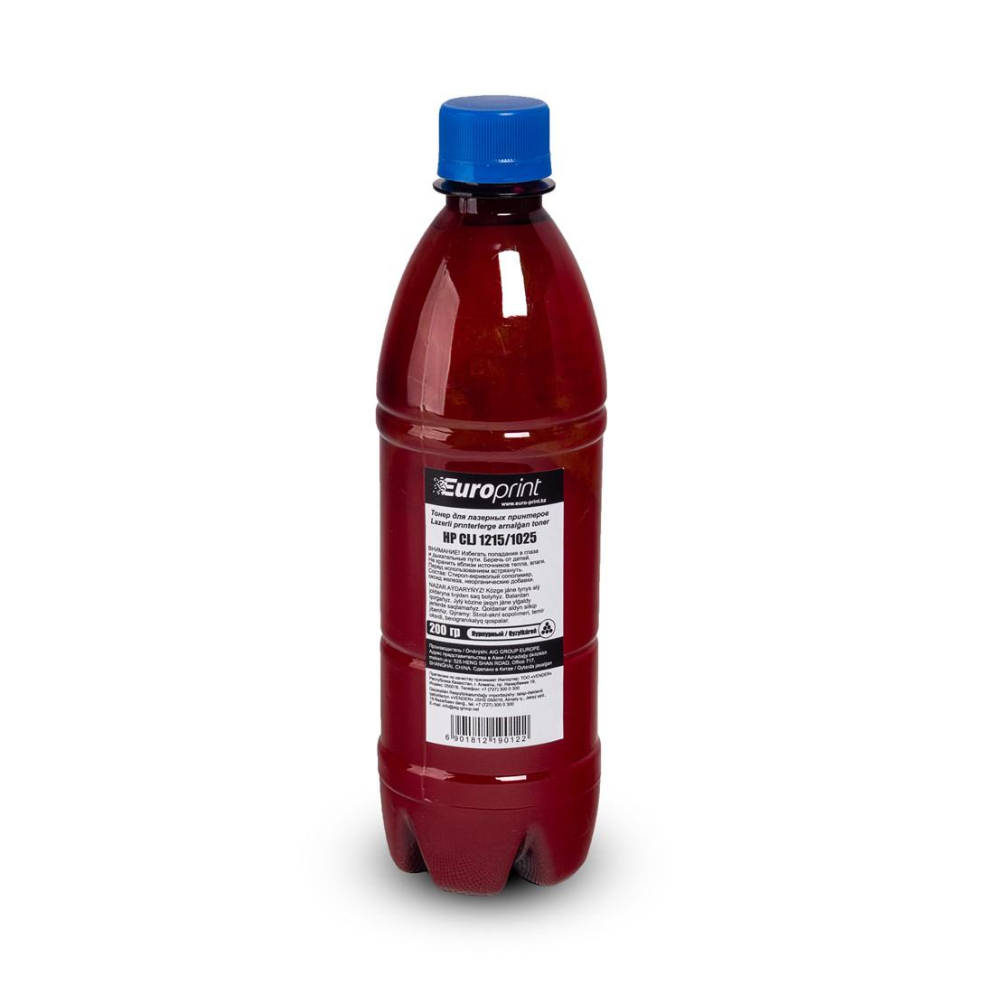Тонер Europrint HP CLJ 1215/1025 Пурпурный (200 гр)