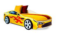 """Кровать машина """"Бондмобиль"""" желтая"""