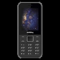 Мобильный телефон Nobby 200, черный с серым