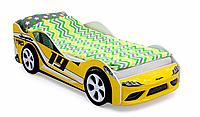 """Кровать машина """"Супра"""" желтая"""