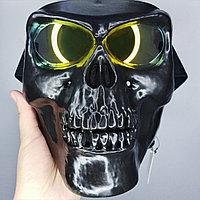 """Мотоциклетная и горнолыжная маска с антибликом """"Череп"""", чёрная."""