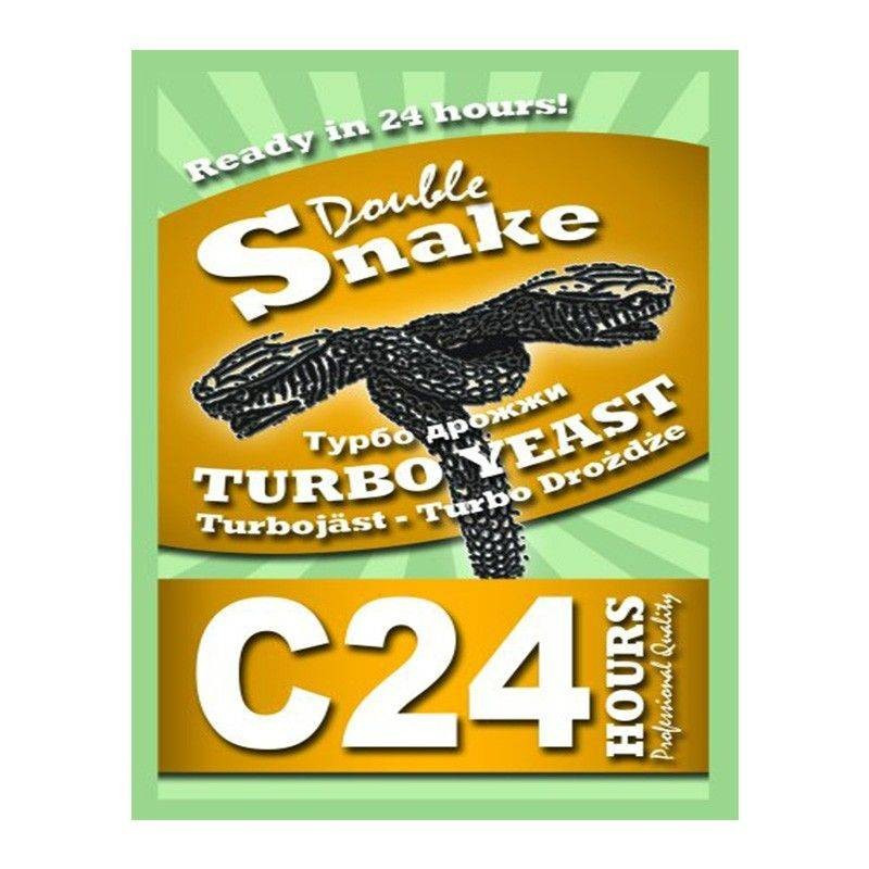 "Спиртовые дрожжи DoubleSnake ""C24 Turbo"", 175 г"