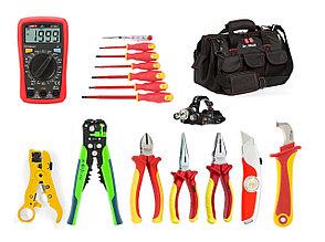 Диэлектрический набор инструментов  электрика 1000B, 17 предметов