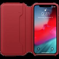 Оригинальный кожаный чехол Folio iPhone XS - (PRODUCT)RED