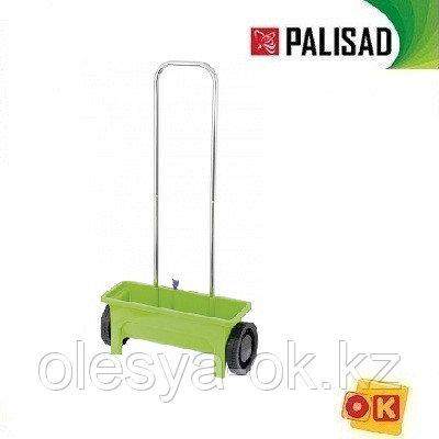 Сеялка на колесах 12 л, механическая с ручкой.  PALISAD 63950