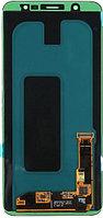 Дисплей Samsung A6 PLUS 2018 / А605 Качество OLED с сенсором, цвет черный, фото 1