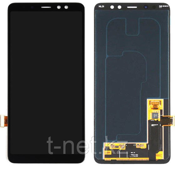 Дисплей Samsung A8 PLUS 2018 / А730 OLED с сенсором, цвет черный