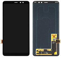 Дисплей Samsung A8 PLUS 2018 / А730 OLED с сенсором, цвет черный, фото 1
