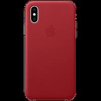 Оригинальный кожаный чехол для iPhone XS - (PRODUCT)RED