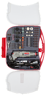 Гравер ЗУБР электрический с набором мини-насадок в кейсе, 219 предметов (ЗГ-130ЭК H219)