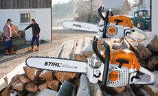 Бензопилы для распиловки дров и ухода за участком