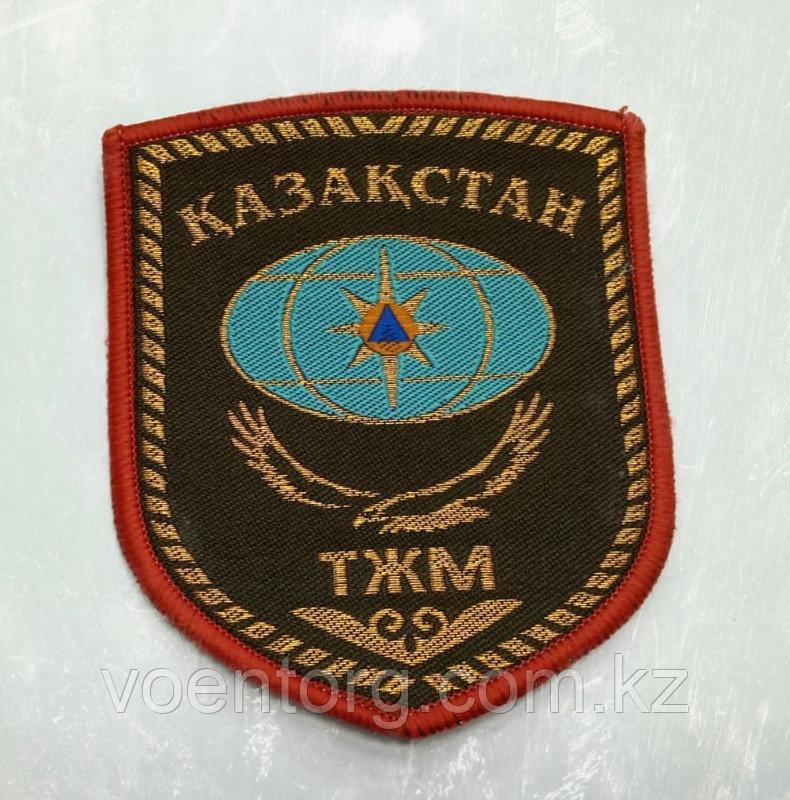 Шеврон ТЖМ хаки с красным кантом