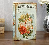 Книга сейф Пышные розы шелк