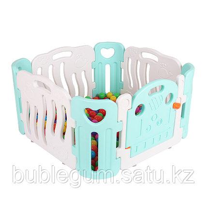 PITUSO Детский ограждение-манеж бел./салат.(без шаров) (110х110х60h)