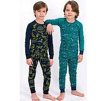 Пижама детская мальчик.* 110-116 см, Зеленый