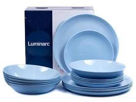 Столовый сервиз Luminarc Diwali Light Blue 18 предметов на 6 персон