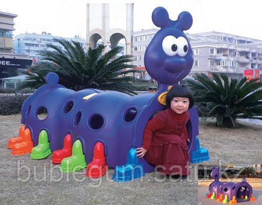Детский игровой туннель QIANGCHI фиолетовая гусиница