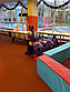 Детский игровой туннель QIANGCHI фиолетовая гусиница, фото 6