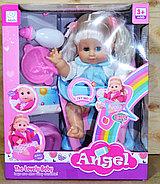 7207 Кукла Angel с горшком памперсом и бутылочкой 37*30, фото 2