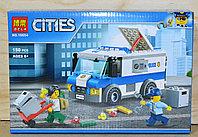 10654 Конструктор Cities ограбление инкассаторской машины 150 дет 26*17