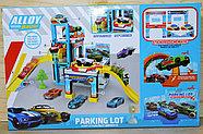 1211 Парковки трех уровней Alloy Racing Parking Lot 3 машинки светится светофор 53*34 (60.5*30*30.8), фото 2