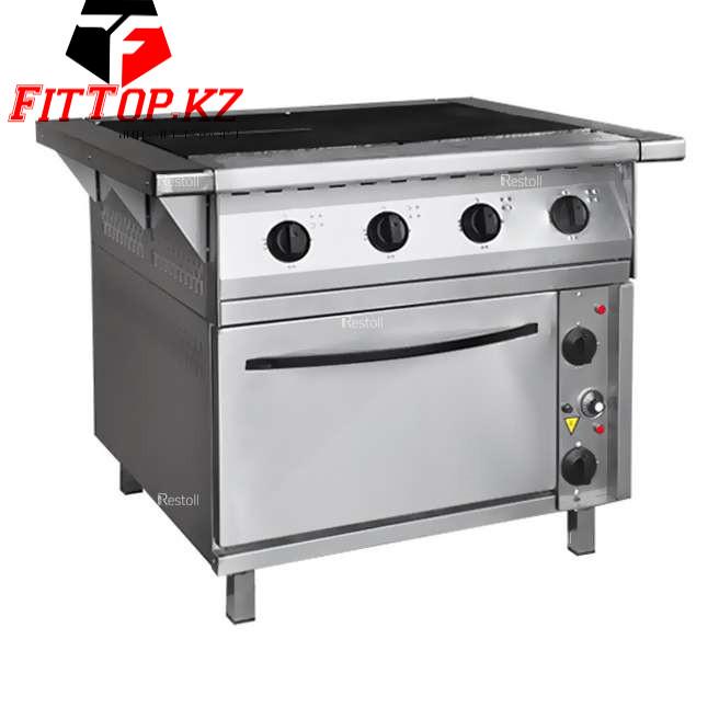Плита электрическая 4 конфорочная с жарочным шкафом ПЭП-0,48-ДШ-01 (840(1050)х850(900)х860(880)мм