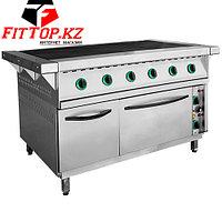 Плита электрическая 6-ти конфорочная с жарочным шкафом ПЭП-0,72-ДШ-01 (лицо нерж.) (1265(1475)х850(895)х860)мм