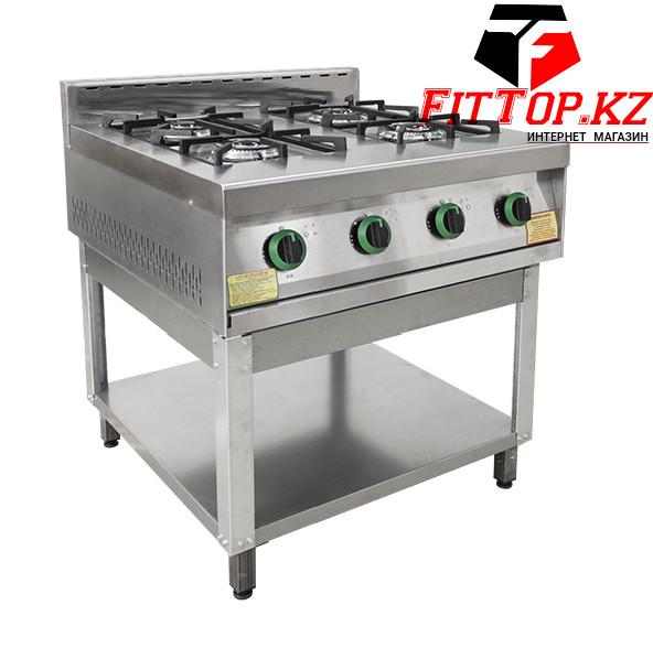 Плита газовая 4-х конфорочная без жар. шкафа ПГ-4-01 (840х850х860 (960) мм , 14 кВт, 220 В)